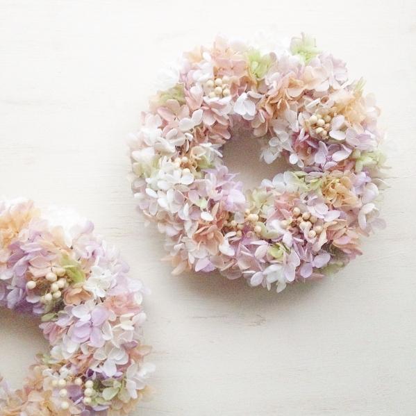 Atelier momo プリザーブド紫陽花リース