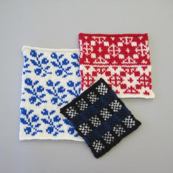 北欧の伝統模様を編む