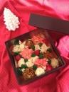 クリスマスプレゼントボックスケーキ(ボックスサイズ:約12.5㎝×12.5㎝×H11.5㎝)
