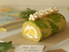 アロハなデコロールケーキ
