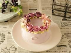 秋色のフラワーケーキ